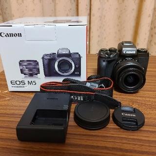 キヤノン(Canon)の【極美品】Canon EOS M5 ズームレンズキット(ミラーレス一眼)