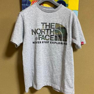 THE NORTH FACE - ノースフェイス ショートスリーブ カモフラージュロゴTシャツ ミックスグレー