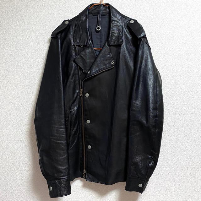 Edition(エディション)の【エディション】ダブル ライダース ジャケット ラムレザー ブラック 本革 メンズのジャケット/アウター(レザージャケット)の商品写真