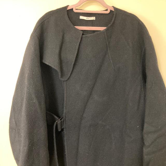 STUDIOUS(ステュディオス)のHELK ヘルク サイドベルトウールコート レディースのジャケット/アウター(ロングコート)の商品写真