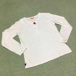 カステルバジャック(CASTELBAJAC)のカステルバジャック アップリケ付き白長袖Tシャツ/130(Tシャツ/カットソー)