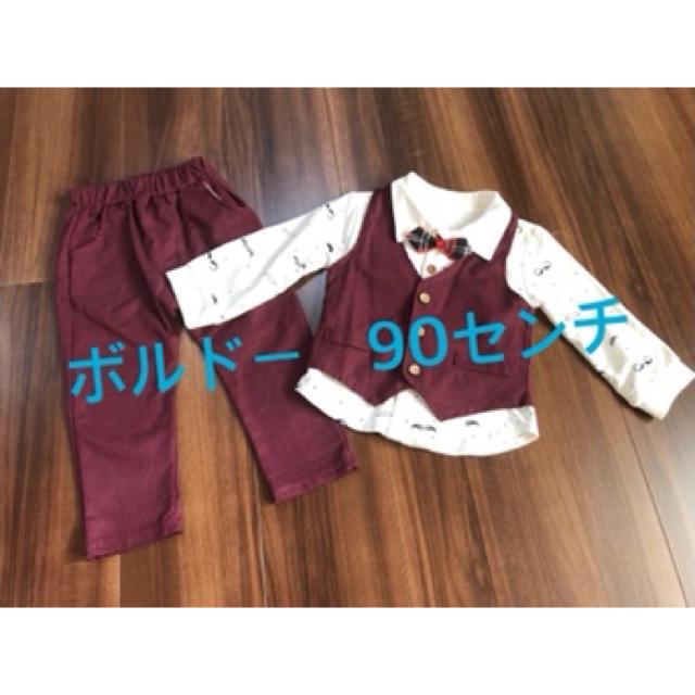 フォーマル男の子 90センチ キッズ/ベビー/マタニティのキッズ服男の子用(90cm~)(ドレス/フォーマル)の商品写真