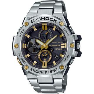 ジーショック(G-SHOCK)のカシオ G-SHOCK Gスチール モバイルリンク機能 ソーラー腕時計 シルバー(腕時計(アナログ))