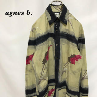 agnes b. - agnes b. アニエスベー 総柄 シャツ メンズ 長袖 古着 homme