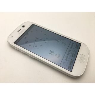 フジツウ(富士通)のSIMフリー ドコモ らくらくスマートフォン4 F-04J ホワイト中古371(スマートフォン本体)