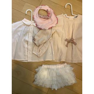 フィセル(FICELLE)の淡いピンクのベビー服 2点セット+おまけ付(シャツ/カットソー)