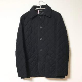 マッキントッシュ(MACKINTOSH)の英国製 マッキントッシュ ウールカシミア キルティングジャケット 黒 サイズ36(ステンカラーコート)