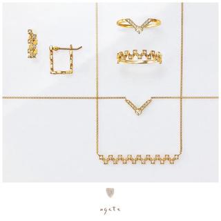 agete - 未使用♡agete GINZA限定♡ダイヤモンドK14リング♡モダンコレクション