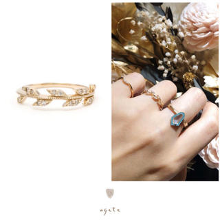 agete - agete♡ローレルリング♡K10リング♡ダイヤモンド♡廃盤品♡アガット