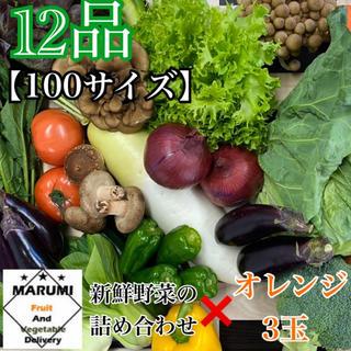 12品 野菜詰め合わせ➕オレンジ3玉 野菜セット 八百屋さんおまかせ(野菜)