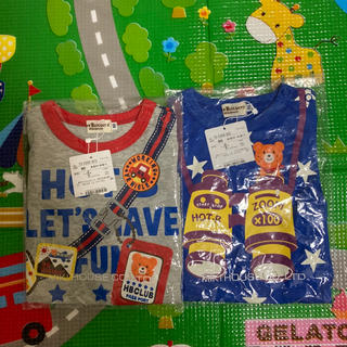 HOT BISCUITS - 【新品未使用】ミキハウス ホットビスケッツ  長袖Tシャツ 90  2点セット