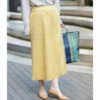 IENA - 美品!フェイクスウェードスカート
