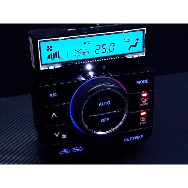 スズキ(スズキ)のワゴンR スティングレー MH23S エアコンパネル LED打ち替え済み品 自動車/バイクの自動車(車種別パーツ)の商品写真