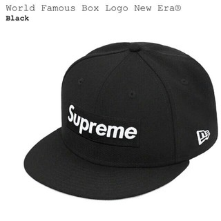Supreme - supreme worldfamous box logo newera 黒