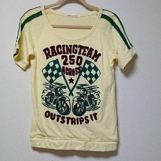 ラフ(rough)のレア【rough】刺繍Tシャツ(イエロー)(Tシャツ(半袖/袖なし))