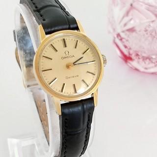 OMEGA - 綺麗 オメガ 新品レザー レディースウォッチ 腕時計 着物にも 金色 ギリ美品