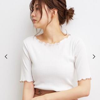 ヴィス(ViS)のSALE!《ViS》ランダムテレコ半袖プルオーバー ホワイト フリーサイズ(カットソー(半袖/袖なし))