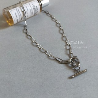 【再入荷】stainless chain necklace② / silver