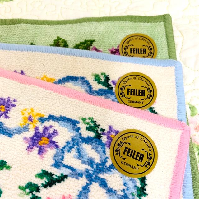 FEILER(フェイラー)のセール 新品 フェイラーハンカチ ピンク、ブルーは銀座店限定品 レディースのファッション小物(ハンカチ)の商品写真