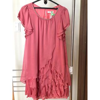 エニィスィス(anySiS)のピンクドレス(ミディアムドレス)