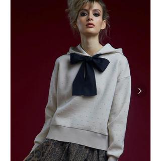 DOUBLE STANDARD CLOTHING - 新品タグ付き ダブルスタンダードクロージング リボンドットパーカー 今期