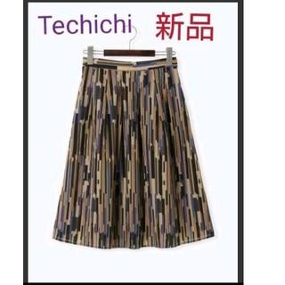 テチチ(Techichi)のTechichi (テチチ)【新品】スパンボイルモザイク柄スカート(ひざ丈スカート)