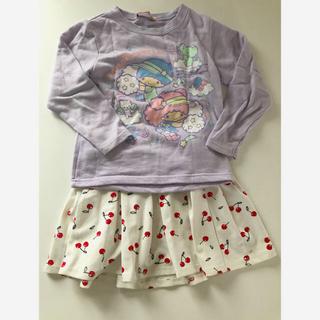 エイチアンドエム(H&M)のキキララ トレーナー H&M さくらんぼ スカート 120(Tシャツ/カットソー)