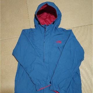 THE NORTH FACE - ノースフェイス スクープジャケット 青 赤ロゴ S NP61240