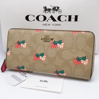 COACH - ✯新品✯COACH 長財布 シグネクチャー いちご ストロベリー 箱☆袋付き♪