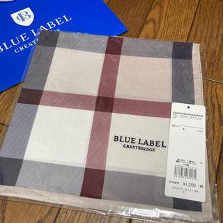 BURBERRY BLUE LABEL - 新品 ブルーレーベルクレストブリッジ ハンカチ ベージュ