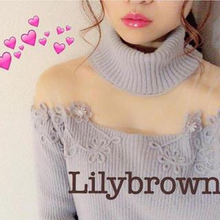 リリーブラウン(Lily Brown)のリリーブラウン シースルータートルニット(ニット/セーター)