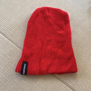 バートン(BURTON)のニット帽 【BURTON】赤色(ニット帽/ビーニー)