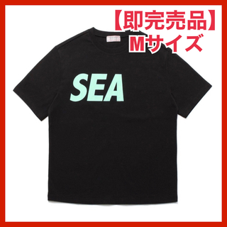 SEA - [GUESS x WIND AND SEA] LOGO TEE ブラック M
