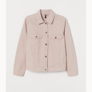 エイチアンドエム(H&M)の美品 H&M デニムジャケット ライトピンク(Gジャン/デニムジャケット)