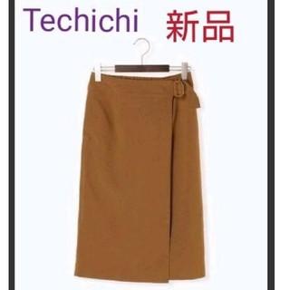 テチチ(Techichi)のTechichi (テチチ)【新品】麻調ラップスカート(ひざ丈スカート)