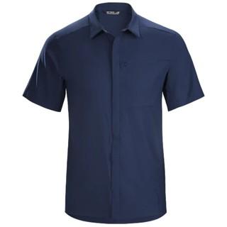 アークテリクス(ARC'TERYX)のアークテリクス スカイラインシャツ 山シャツ 半袖 登山 ネイビー(シャツ)