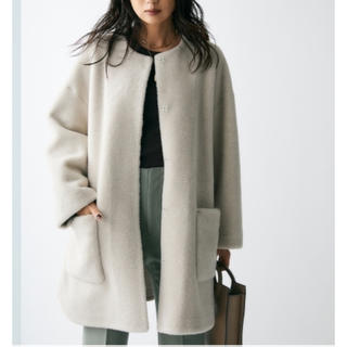 ミラオーウェン(Mila Owen)のミラオーウェン ★ノーカラーシャツカーブボアジャケット(ノーカラージャケット)