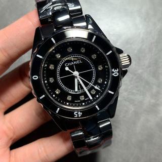 腕時計 J12 ノベルティ  黒  白  電池式