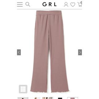 【人気商品】GRL カットメローフレアパンツ ピンク