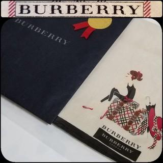 BURBERRY - BURBERRYハンカチ☆ビジュー(ラインストーン)ショップ袋付属