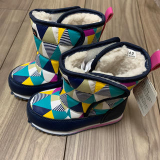 フタフタ(futafuta)の新品 フタフタfutafuta ブーツ 14.0 バースデイ カラフル ムートン(ブーツ)