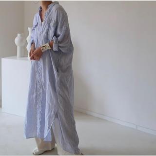FRAMeWORK - ARGUE フレンチリネン ワイドシャツドレス