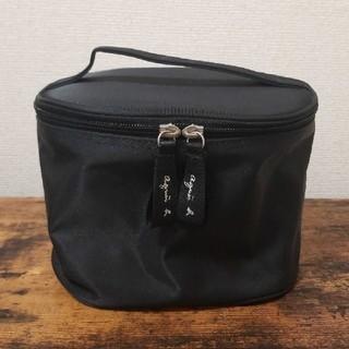 agnes b. - agnes b. アニエスb バニティバッグ 化粧ポーチ ミラー付き 黒