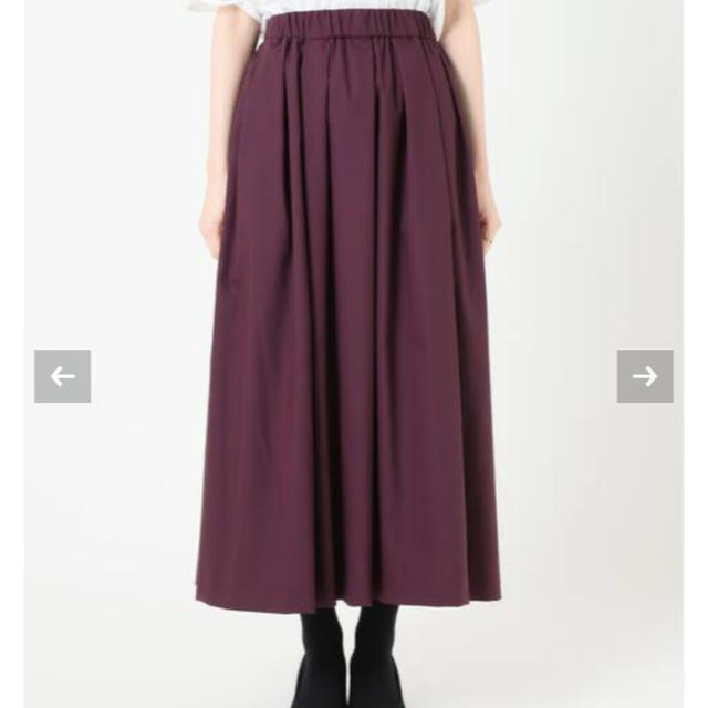 IENA(イエナ)のカルゼストレッチランダムタックスカート レディースのスカート(ロングスカート)の商品写真