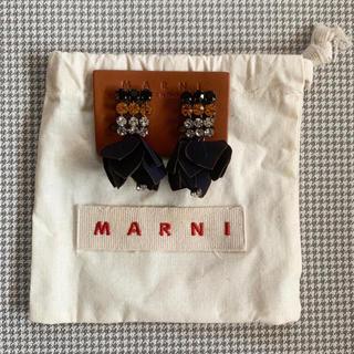 マルニ(Marni)の【新品未使用】MARNIマルニ クリスタル フラワードロップ クリップイヤリング(イヤリング)