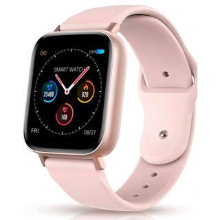 [新品] スマートウォッチ 活動量計 多機能腕時計 デジタル ピンク レディース(腕時計(デジタル))