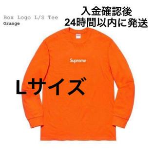 Supreme - Supreme box logo L/S Tee Orange Large