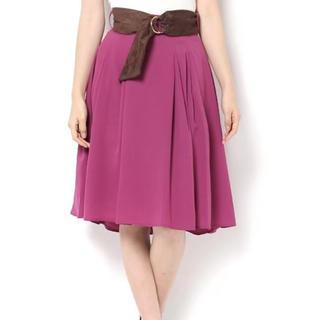 ファビュラスアンジェラ(Fabulous Angela)のFabulous ベルト付きフレアスカート(ひざ丈スカート)