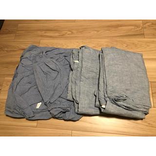 MUJI (無印良品) - 無印良品 ベッド ボックスシーツ 麻 掛け布団カバー