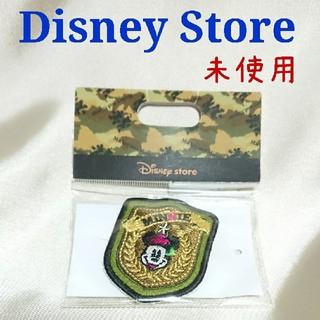 ミニーマウス(ミニーマウス)のディズニーストア ミニー ワッペンバッジ 未使用 新品 刺繍 ワッペン(キャラクターグッズ)